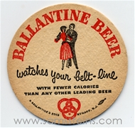 Ballantine Belt Line Beer Coaster
