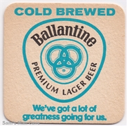 Ballantine Cold Brewed Ballantine Ale Man Beer Coaster