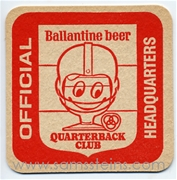 Ballantine Quarterback Club Beer Coaster