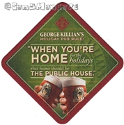 George Killians Irish Red Home For The Holidays Beer Coaster