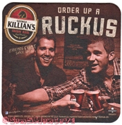 George Killians Irish Ruckus Beer Coaster