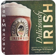 George Killians Irish Red Deliciously Irish Beer Coaster