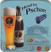 Hacker-Pschorr Head for Pschorr Beer Coaster