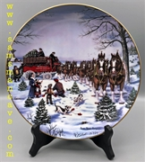 1991 Budweiser Season's Best Holiday Plate