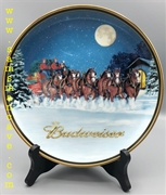 2005 Budweiser Holiday Plate