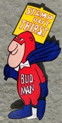 Bud Man Stamp Out Thirst Sticker