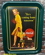 Coca Cola He's Coming Home Tray