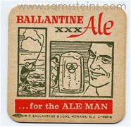 Ballantine for the ALE Man Beer Coaster