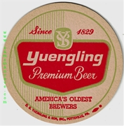 Yuengling America's Oldest Round Beer Coaster