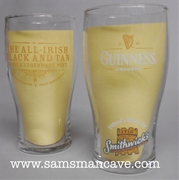 Guinness Smithwick's All Irish Black & Tan Glass Set of Two
