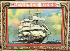 Genesee Beer Plastic Insert Clipper Ship Sign