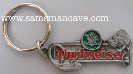 Budweiser Lizards Pewter Keychain