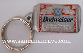 Budweiser Can Pewter Keychain