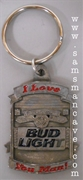 Bud Light I Love You Man Pewter Keychain