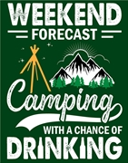 Camping Chance Tin Sign